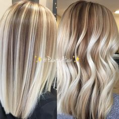 Best 10 ✨Hand Painted and blended into natural roots Vanilla blonde 🍦toned ❤✨Painted Hair✨straight and waved🌊. Balayage Straight Hair, Balayage Hair Blonde, Balayage Bob, Blonde Foils, Honey Balayage, Natural Hair Styles, Short Hair Styles, Platinum Blonde Hair, Highlighted Blonde Hair