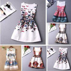 2015 Summer Womens TuTu Dress Vintage Digital Evening Party Print Dresses Best #Fashion #Formal