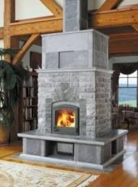 Using soapstone in your fireplace is a sensible choice. The stone retains heat in winter and keeps cool in summer.