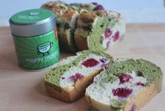 raspberry matcha marble loaf recipe, on my yoga blog, enjoy