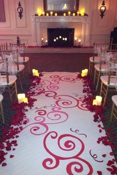 31 Awesome Wedding Aisle Runners Wedding Ceremony Photos on WeddingWire-  This is beautiful.