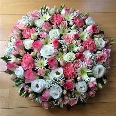 Pink & White Funeral Posy Tribute