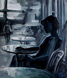 "Saatchi Online Artist Lana Marandina; Painting, ""Lost in thoughts"" #art"