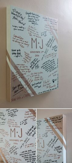 Inexpensive canvas guest book, such a cute little jem for your future home. Use a Michaels coupon! DIY ~ large gallery style painted canvas as your wedding guest book, so cute! I HATE DIY. Graduation Open Houses, High School Graduation, Graduation Gifts, Graduation Quotes, Graduation Book Ideas, Graduation 2015, Graduation Celebration, Wedding Guest Book, Diy Wedding