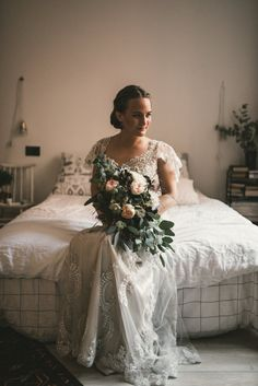 Excellent use of light and gorgeous wedding gown