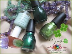 Ladies! My nails are polish in ombré green fusion ready for St. Patricks. Want a quick tutorial without nail art brushes? Hit LIKE, thankx! XOXO Jennifer :)    {}{}{}♥{}{}{} ¡Chicas! Me pinté mis uñas en colores verdes con la técnica de ombré listas para San Patricio. ¿Quieren un tutorial rapidito sin brochas de diseños? Dale LIKE, ¡gracias! XOXO Jennifer :)  WEBSITE ~ http://www.MysticNailsPR.com
