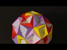 How to make the origami star ball. This is much cuter made out of old book paper.