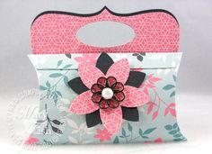 Pillow Box Treat Holder Purse (handle made with SU's Top Note Die)