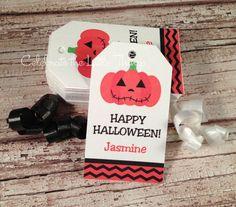 20 Halloween Jack O Lantern MINI Favor Tags by CelebrateLilThings, $6.25