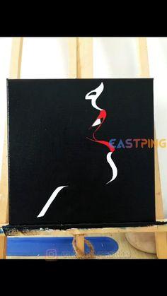 Canvas Painting Tutorials, Diy Painting, Painting Abstract, Small Canvas Art, Diy Canvas Art, Cute Canvas Paintings, Canvas Ideas, Art Drawings Sketches Simple, Acrylic Art