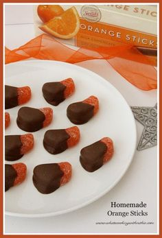 Homemade Orange Sticks are simple to make and always a crowd pleaser! @whatscookingwithruthie.com #recipes #candy
