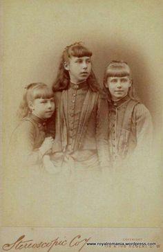 Sisters Alexandra, Victoria Melita and Marie of Edinburgh