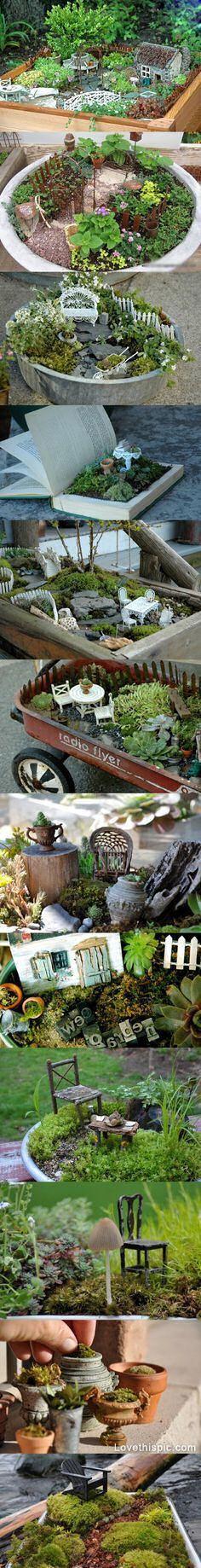 DIY Mini Garden (LOVE the one in the book!!)