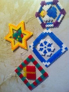 perler beads christmas ornaments