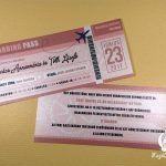 Nyomtatott esküvői meghívó 45. - Esküvői meghívók és kellékek - Megálmodtad.hu Event Ticket, Wedding Invitations, Printed, Paper Board, Wedding Invitation Cards, Prints, Wedding Invitation, Wedding Announcements, Wedding Invitation Design