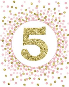 5 Sign Fifth Birthday Party Decor Birthday Party Sign Fifth Birthday Sign Pink Gold Glitter Five Sign Girl Birthday Party Decorations Art Birthday, Happy Birthday, Birthday Parties, Printing Services, Online Printing, Teal And Gold, Pink Purple, Hot Pink, Baby Clip Art