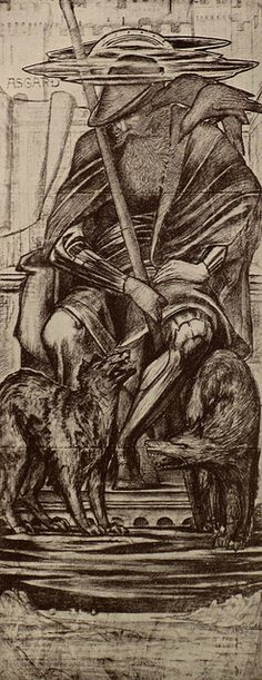 Norse god Odin by Thorskegga. Odin was the god of battle, death and inspiration. Chief of the Aesir family of gods. One-eyed, he rides about earth visiting gallows and slaughterfields. Iron Age, Folklore, Odin Allfather, Valhalla, Odin And Thor, Norse Pagan, Germanic Tribes, Viking Life, Celtic Mythology