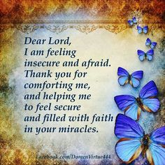 A prayer for you to feel secured and comforted.~ Doreen Virtue