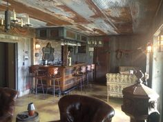 Guy builds a pub in his basement using materials from his old barn...I should have done this with our old barn!!!!