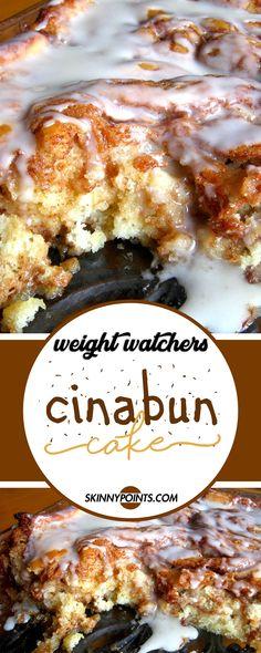 Cinabun Cake (Cinnamon Bun Cake) #weightwatchers #weight_watchers #cinabun #cake #cinnamon #bun