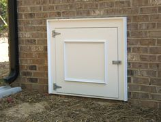 Crawl space access door ideas for the house pinterest for Exterior basement access doors