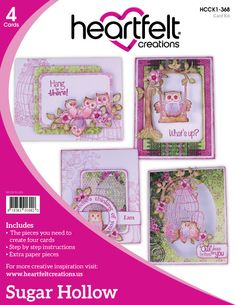 Heartfelt Creations Sugar Hollow Card Kit - Sugar Hollow Collection by PNWCrafts on Etsy