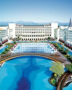Mardan Palace  ( Antalya, Turkey )  Mardan Palace is a palatial Vegas-style resort on the Turkish Riviera. #Jetsetter