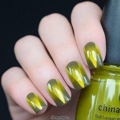 Marvelous Nail Art Design Gold & Leopard Print - Reny styles