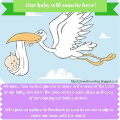 Post this on your facebook page and stop others announcing the birth of your child on social media Birth Announcement Social Media, Baby Arrival Announcement, Baby Birth, Our Baby, Your Child, Baby Kids, Parenting, Baby Shower, Joy