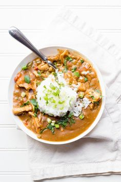 This recipe for Chicken Étouffée may or may not be authentic, but it sure is delicious!