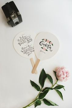 Something like these... That church is going to be hotttt. Wedding Fans DIY Wedding Ideas for Small Summer Weddings @Bethany Shoda Priest