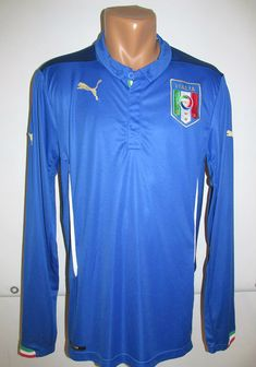 Italy 2014/2015/2016 home football shirt by puma italia azzurro jersey  calcio soccer