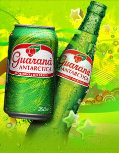 Guaraná Antarctica. A very good and very Brazilian soda drink. YUMMY This drink is wonderful. When ICE COLD
