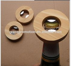 Beautiful wood handle personalized and round shape bottle opener for factory direct suppliers