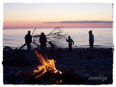 Ein wundervoller Strandmoment am Abend von Tanja