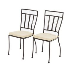 Semplice Bistro Chairs with Cushions (Set of 2) - Overstock Shopping - Big Discounts on Alfresco Home Sofas, Chairs & Sectionals