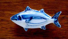 Japanese hashioki in a form of a fish (tuna?) ceramic.