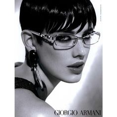 Giorgio Armani Eyewear Ad Campaign Spring/Summer 2008 Shot #3 - MyFDB ❤ liked on Polyvore featuring ad campaign