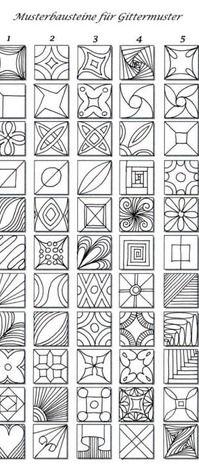 Pattern sheet for zentangle