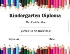 Free printable kindergarten graduation certificate template umi kindergarten graduation diploma yadclub Choice Image