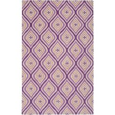 Shop for Hand-Tufted Purple Trellis Wool Area Rug (8' x 10'). Get free shipping at Overstock.com - Your Online Home Decor Outlet Store! Get 5% in rewards with Club O! - 23651547