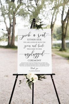 Unplugged Wedding Sign, Wedding Ceremony Signs, Wedding Welcome Signs, Wedding Ceremonies, Wedding Program Sign, Wedding Ceremony Pictures, Wedding Venues, Printable Wedding Programs, Wedding Entrance