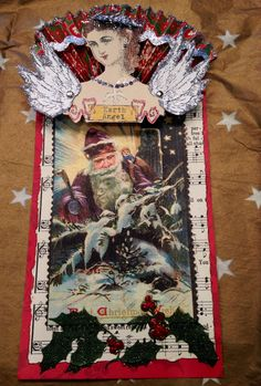 Artist: Cathy Arnold Character Construction  Angel Holiday Tag Swap 2014