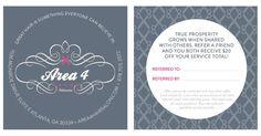 #houseofwork   Referral Card for Area 4 Hair Salon. Designed by House of Current, Atlanta, GA. #houseofcurrent