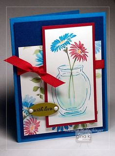 Color Water in a Clear Vase with Copics - stampTV