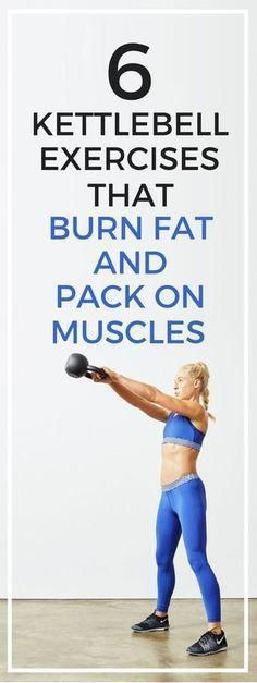 6 kettlebell exercises that will help you burn fat and pack on more muscles. - Fitness Tips Kettlebell Training, Kettlebell Cardio, Kettlebell Certification, Kettlebell Benefits, Kettlebell Challenge, Fitness Workouts, Fitness Tips, Fitness Motivation, Exercise Workouts