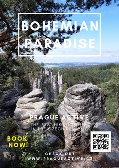 One day trip from Prague to Prachov rock city in Bohemian Paradise UNESCO Geopark. Best place to visit in Czech Republic. Hiking tour in Czech Republic Day Trips From Prague, Hiking Tours, One Day Trip, Tour Operator, Europe Travel Tips, Czech Republic, Cool Places To Visit, Castles