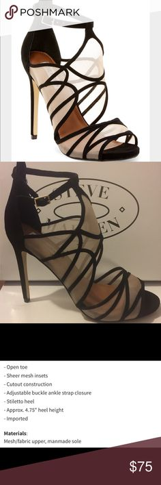 Steve Madden Proxi Caged Sheer Black Caged Heel 11 Size 11. New in box Steve Madden Shoes Heels