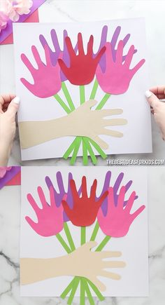 Handprint Bouquet - such a cute and easy Mother's day craft for kids!