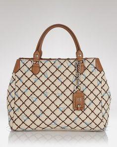 3ec632ecad3d5 Olivia Harris Tote - Quilted Linen Shopper - ShopStyle Bags